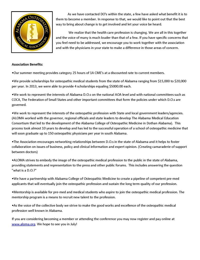 Association Benefits Letter-